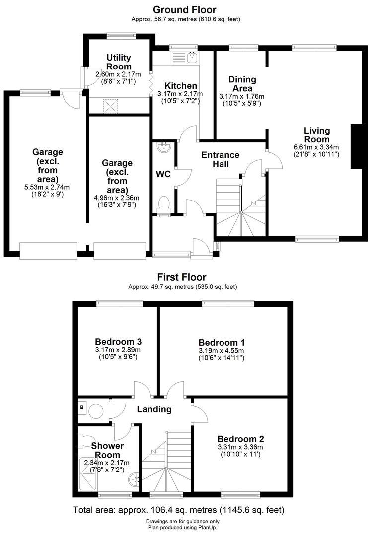 Floor plan Beaumont Road, Cambridge